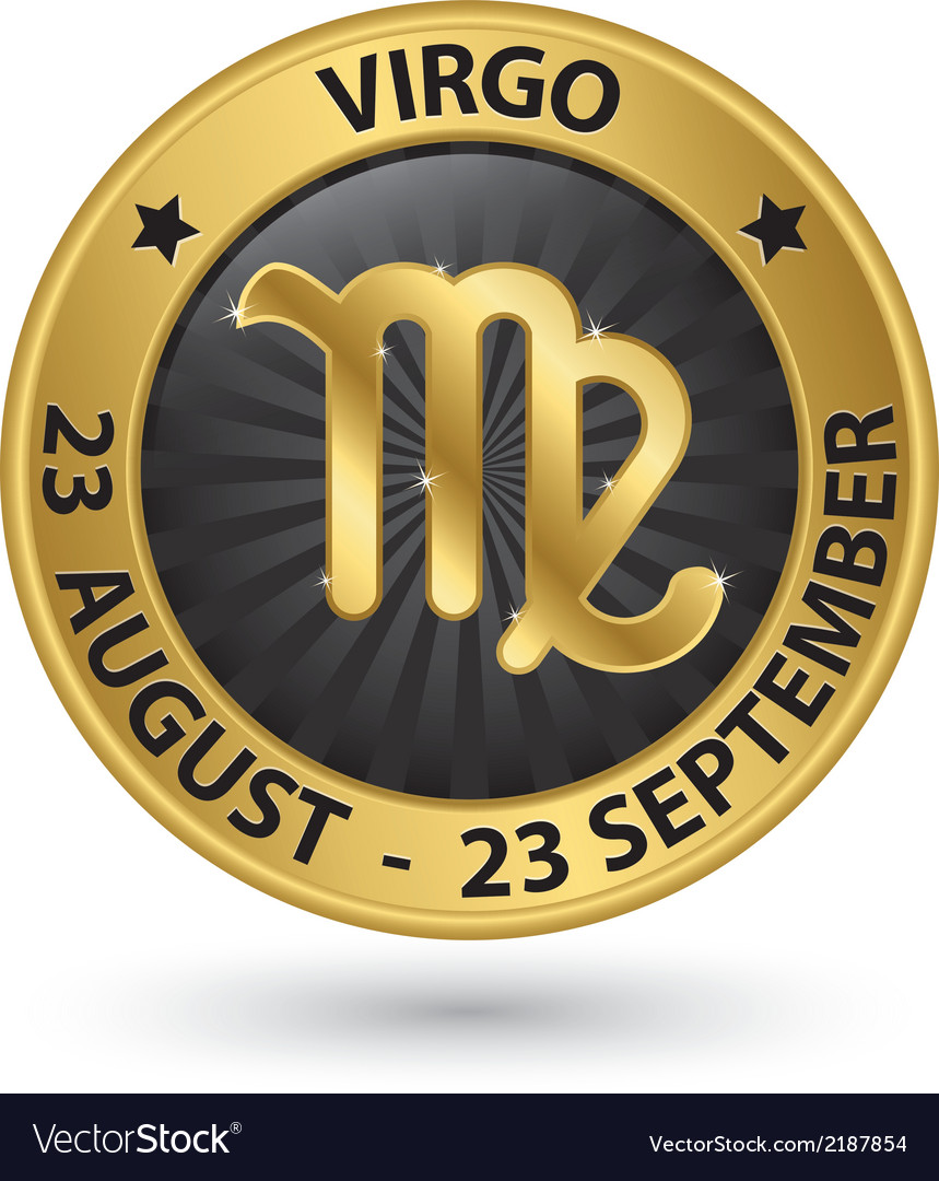 Virgo zodiac gold sign virgo symbol vector | Price: 1 Credit (USD $1)