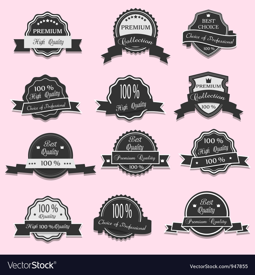 12 premium quality labels vector | Price: 1 Credit (USD $1)