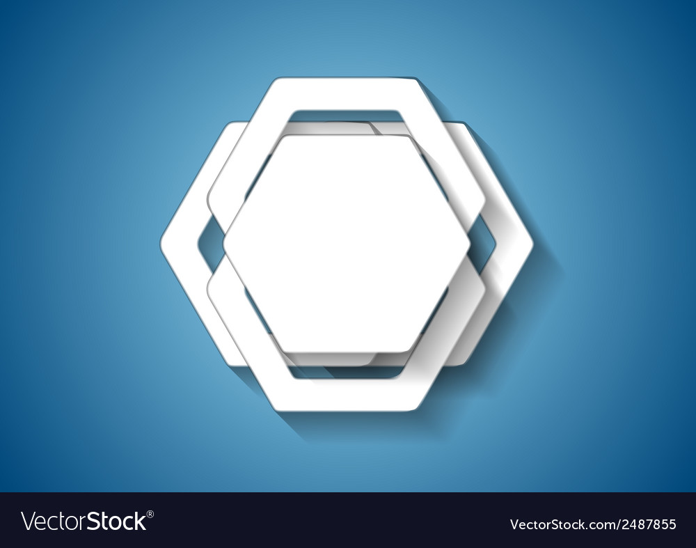 Abstract hexagons template vector | Price: 1 Credit (USD $1)