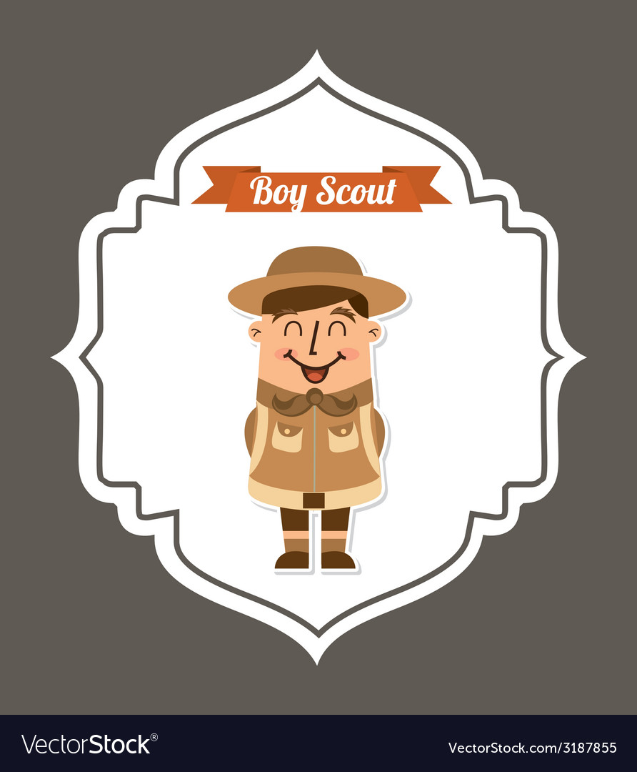 Boy scout design vector | Price: 1 Credit (USD $1)