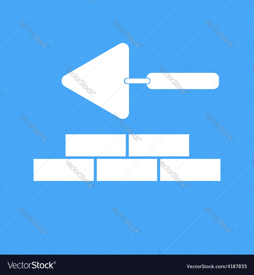 Bricklaying and trowel vector | Price: 1 Credit (USD $1)