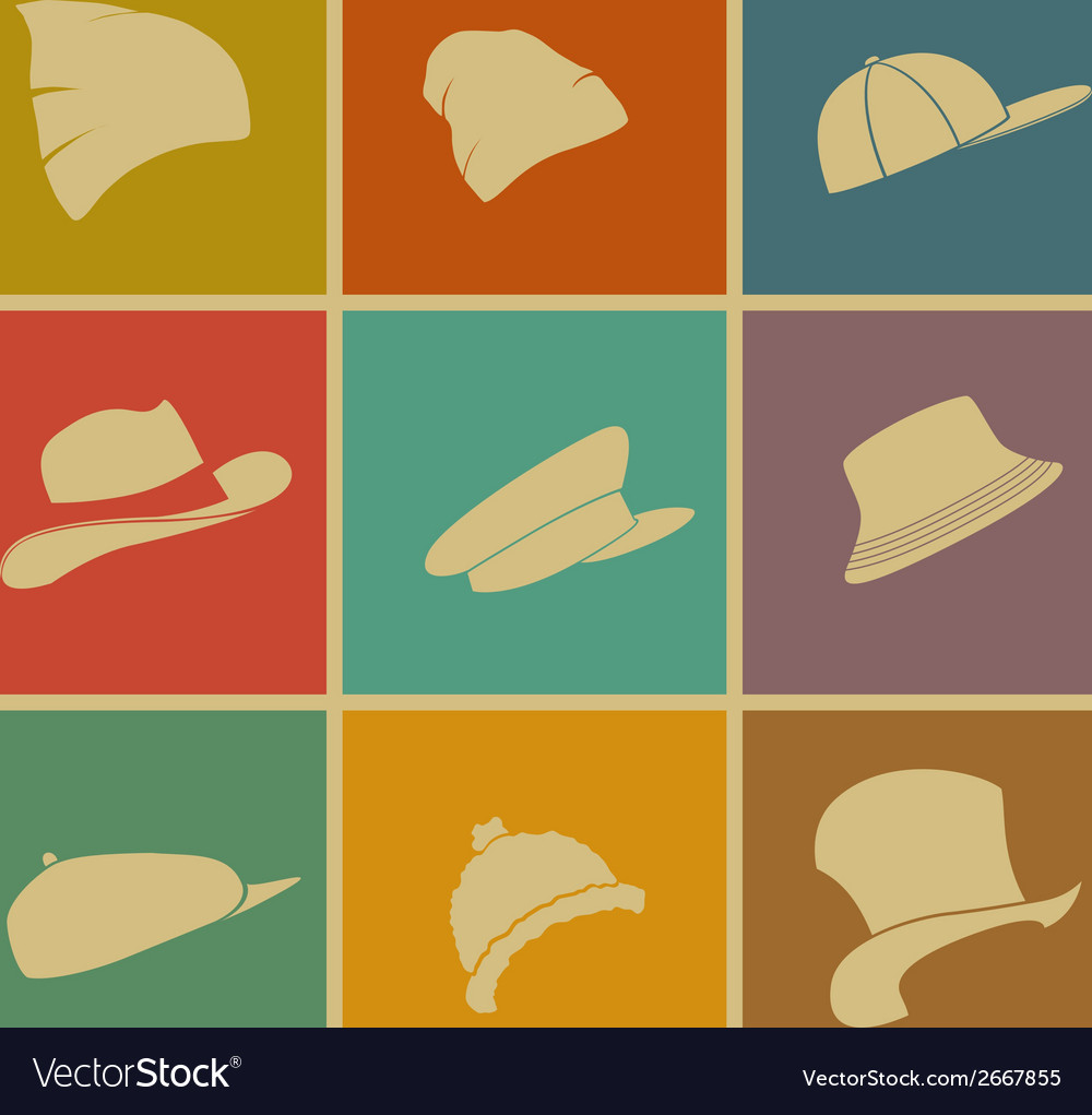 Colorful hats vector | Price: 1 Credit (USD $1)