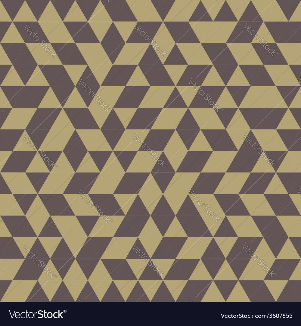 Geometric seamless pattern with golden triangles vector | Price: 1 Credit (USD $1)