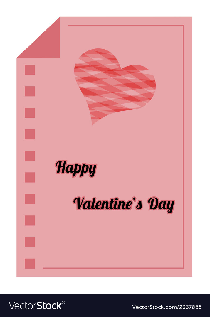 Happy valentines day - red paper list vector | Price: 1 Credit (USD $1)