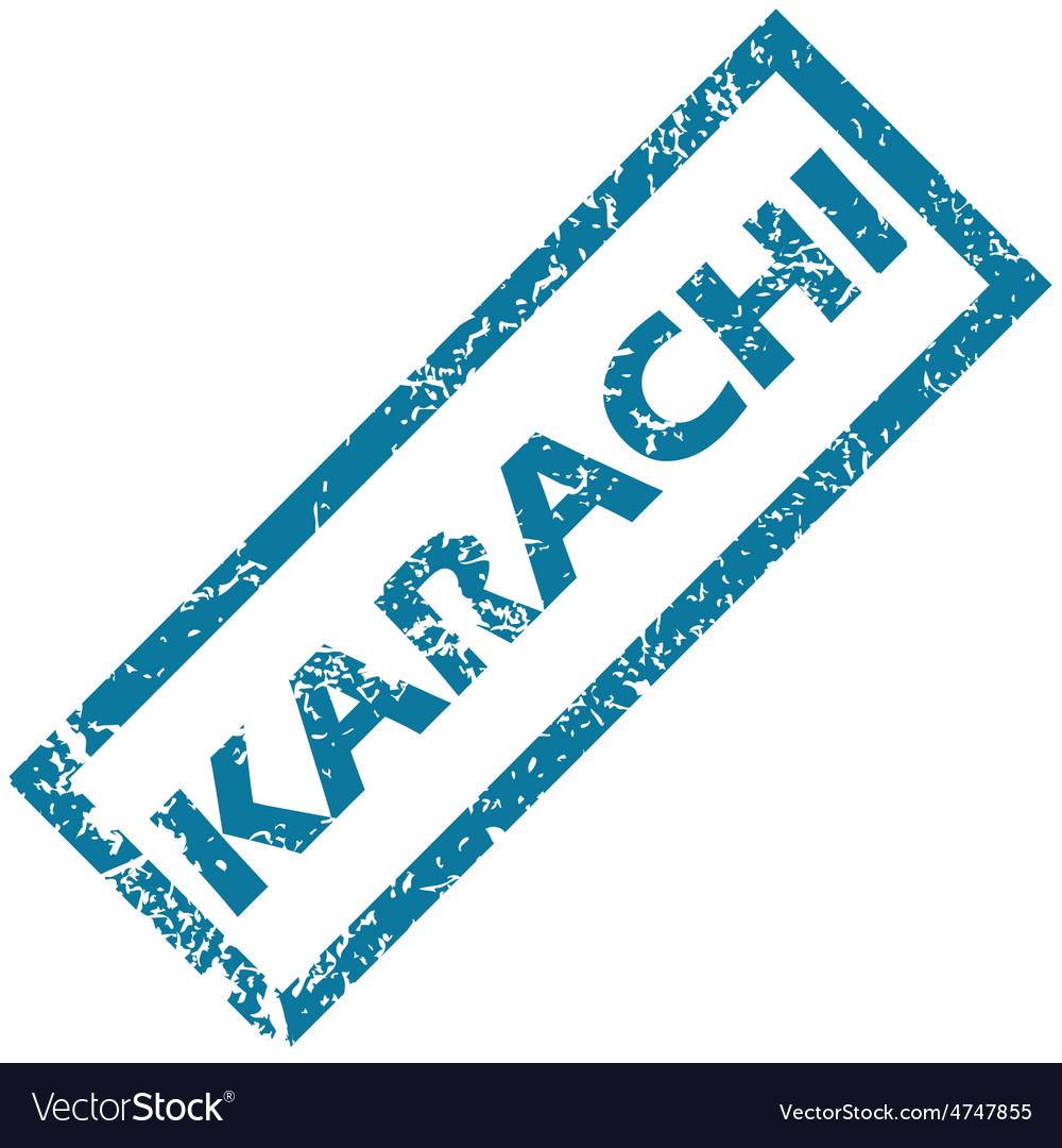 Karachi rubber stamp vector | Price: 1 Credit (USD $1)