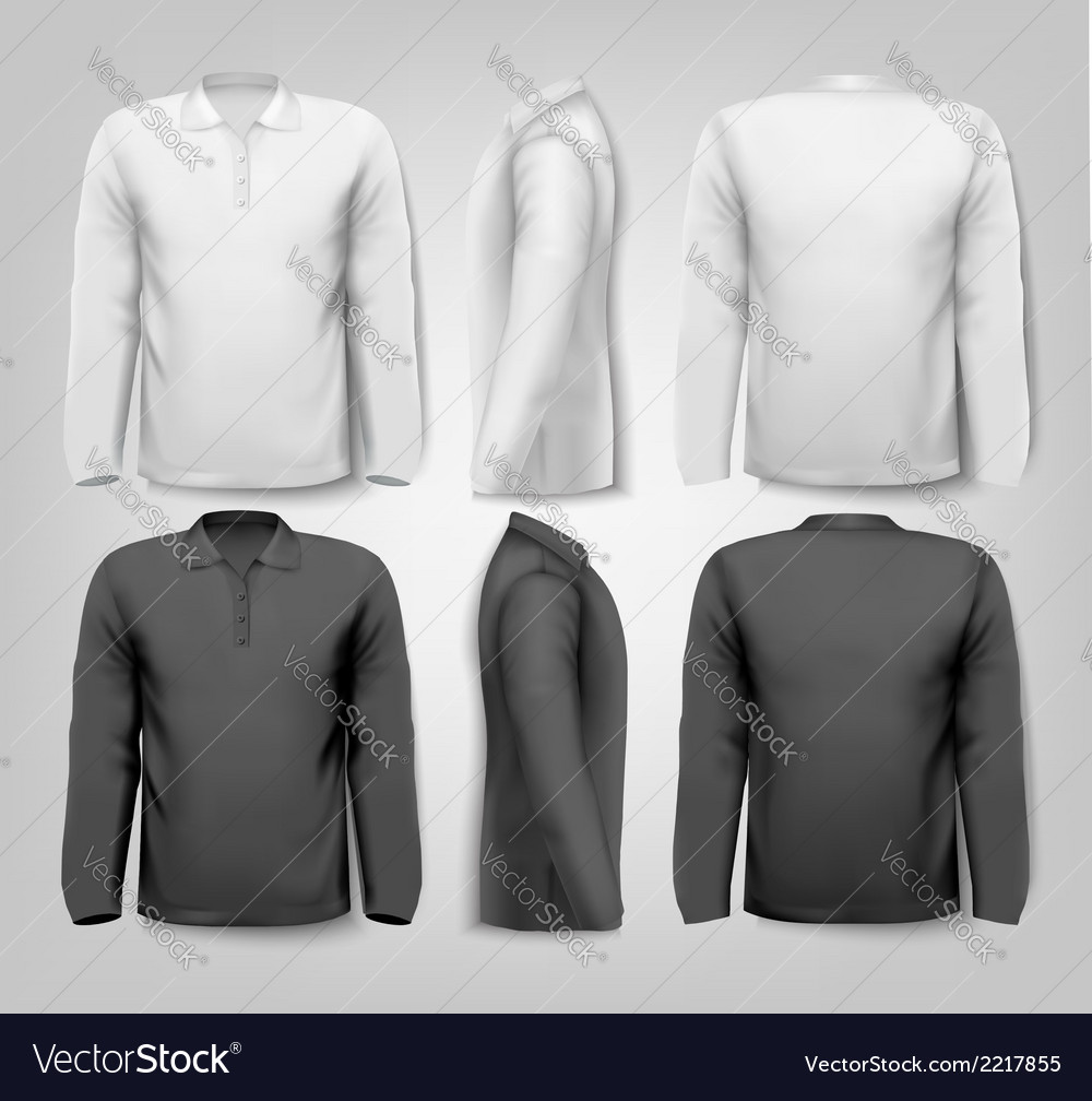 Long sleeved shirts with sample text space vector | Price: 1 Credit (USD $1)