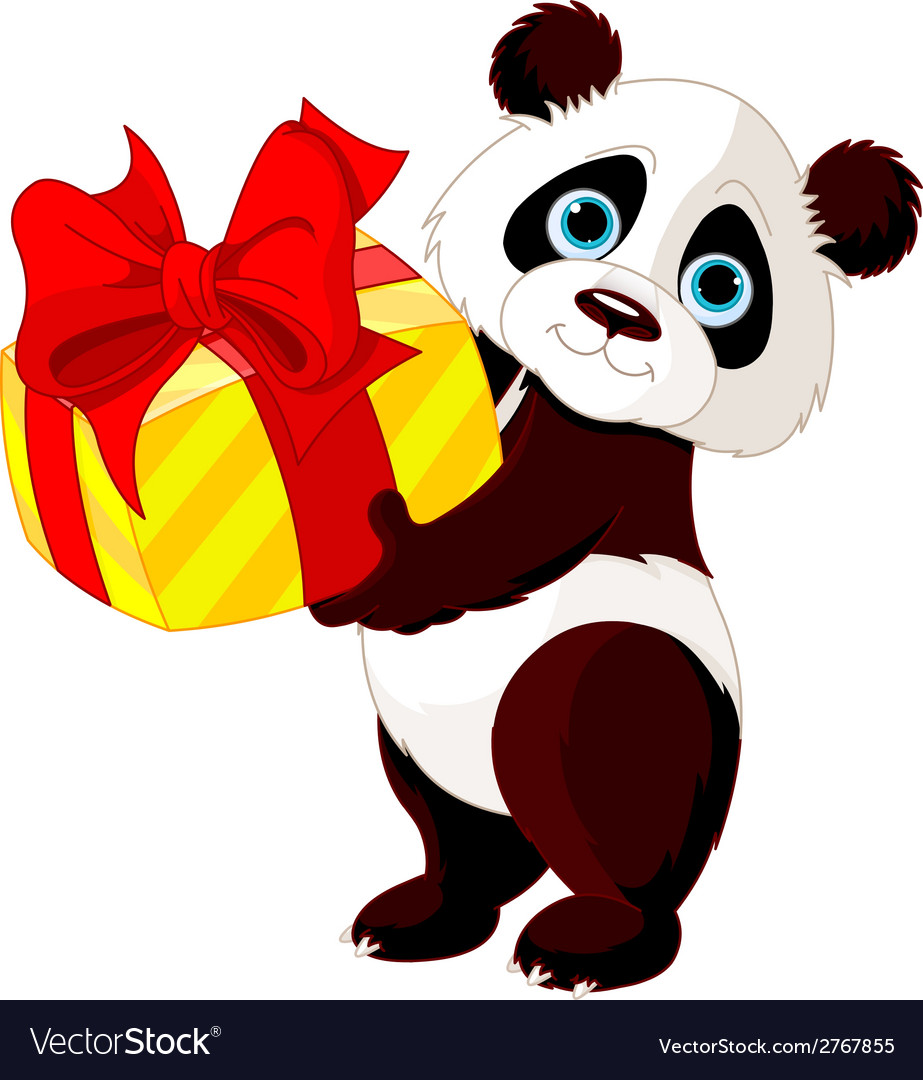 Panda birthday vector | Price: 1 Credit (USD $1)