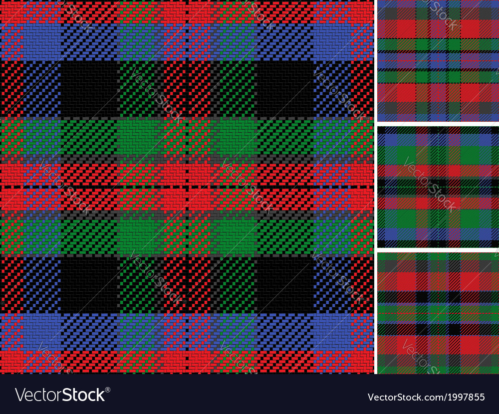 Seamless pattern scottish tartan vector | Price: 1 Credit (USD $1)