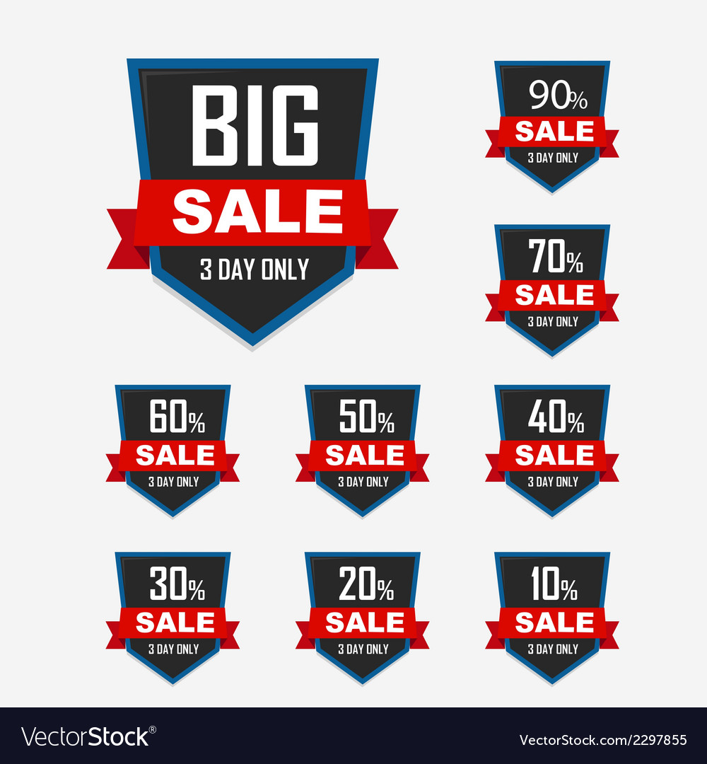 Set of luxury sale labels vector | Price: 1 Credit (USD $1)
