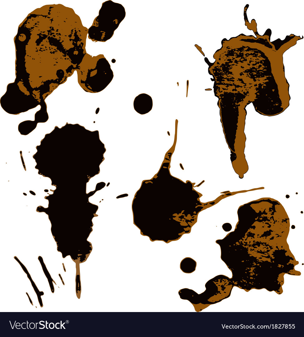 Set of two-color blots vector | Price: 1 Credit (USD $1)
