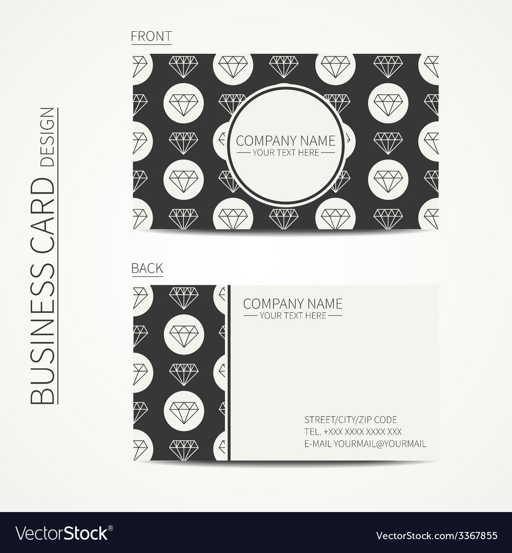 Vintage creative simple business card template vector | Price: 1 Credit (USD $1)