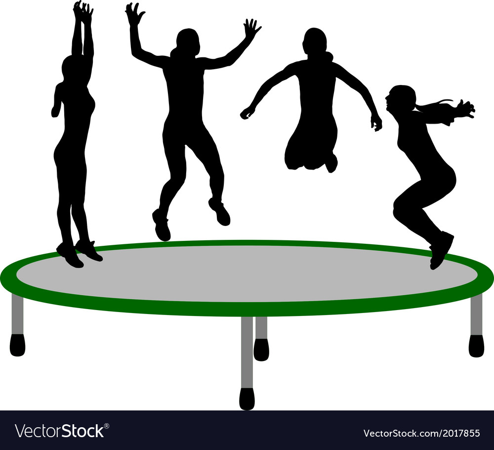Woman trampoline vector | Price: 1 Credit (USD $1)