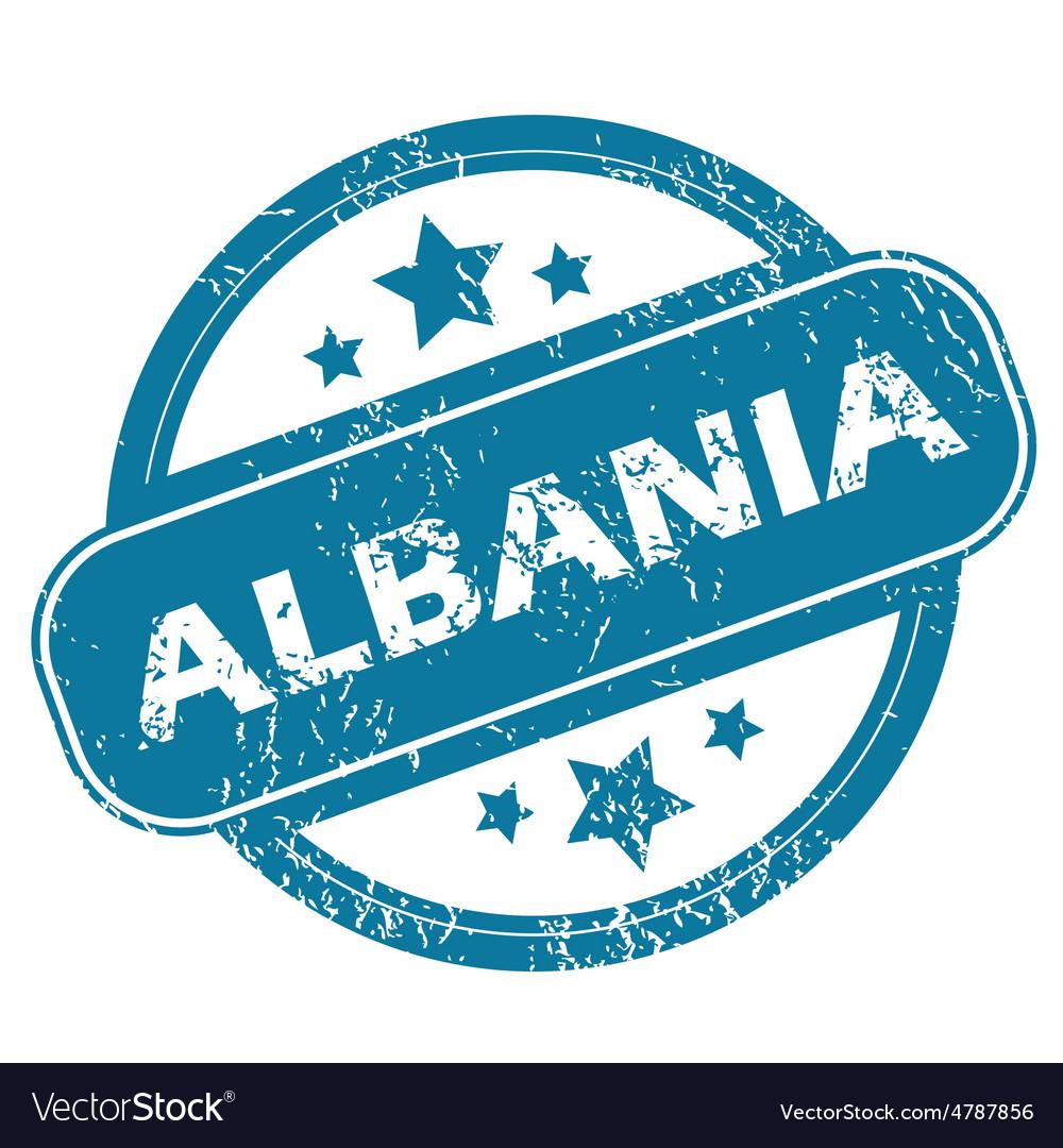 Albania round stamp vector | Price: 1 Credit (USD $1)