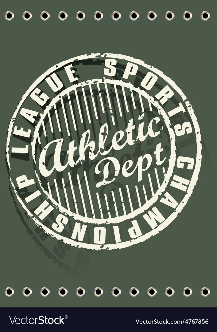 Athletic dept vector | Price: 1 Credit (USD $1)