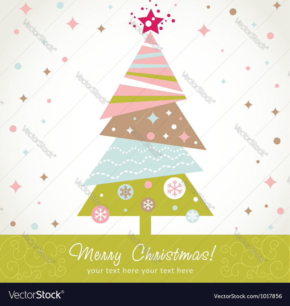 Colorful design christmas tree with xmas toys vector | Price: 1 Credit (USD $1)