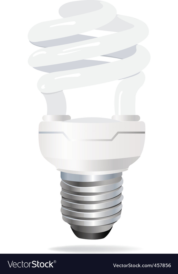 Energy saving light bulb vect vector | Price: 1 Credit (USD $1)