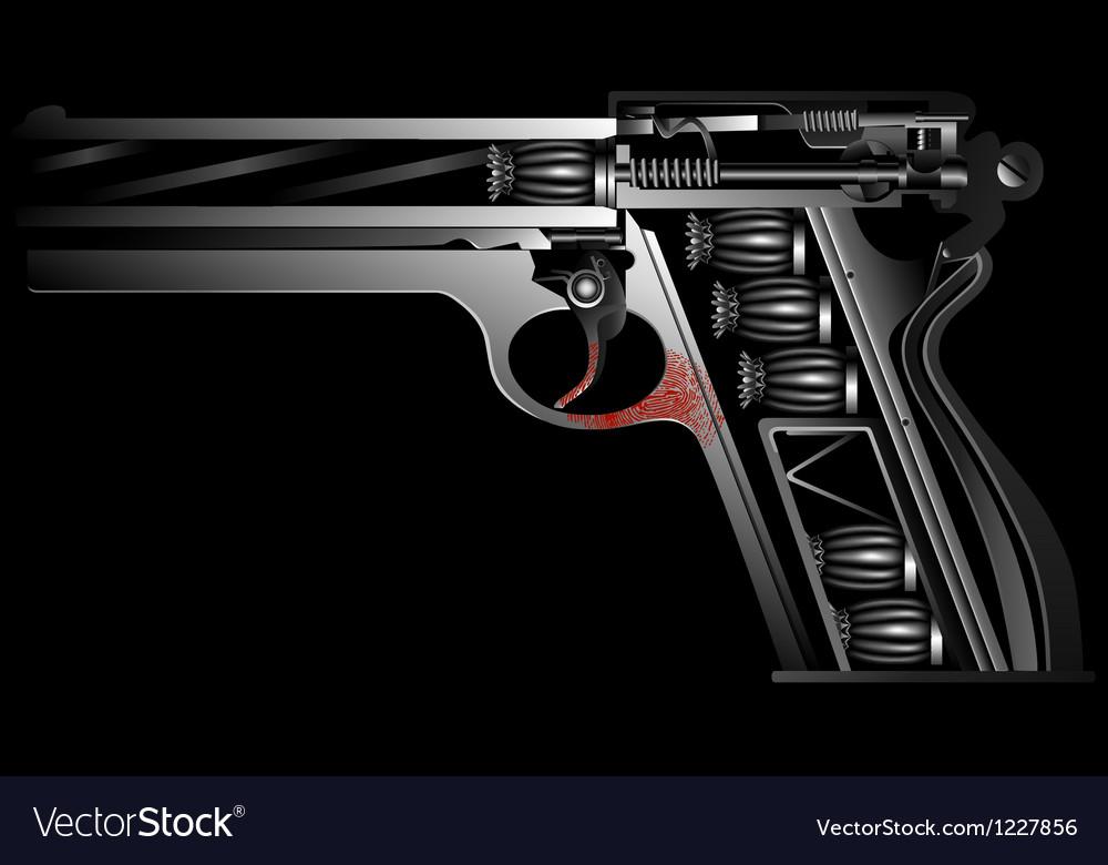 Gun against drugs vector | Price: 1 Credit (USD $1)