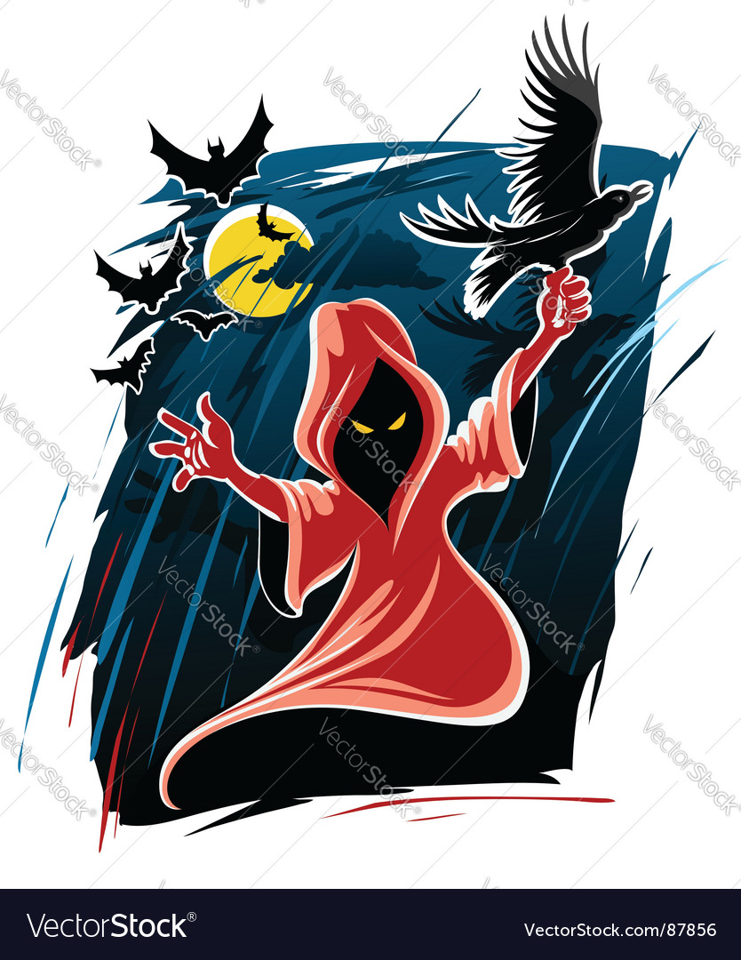 Halloween midnight ghost vector | Price: 1 Credit (USD $1)