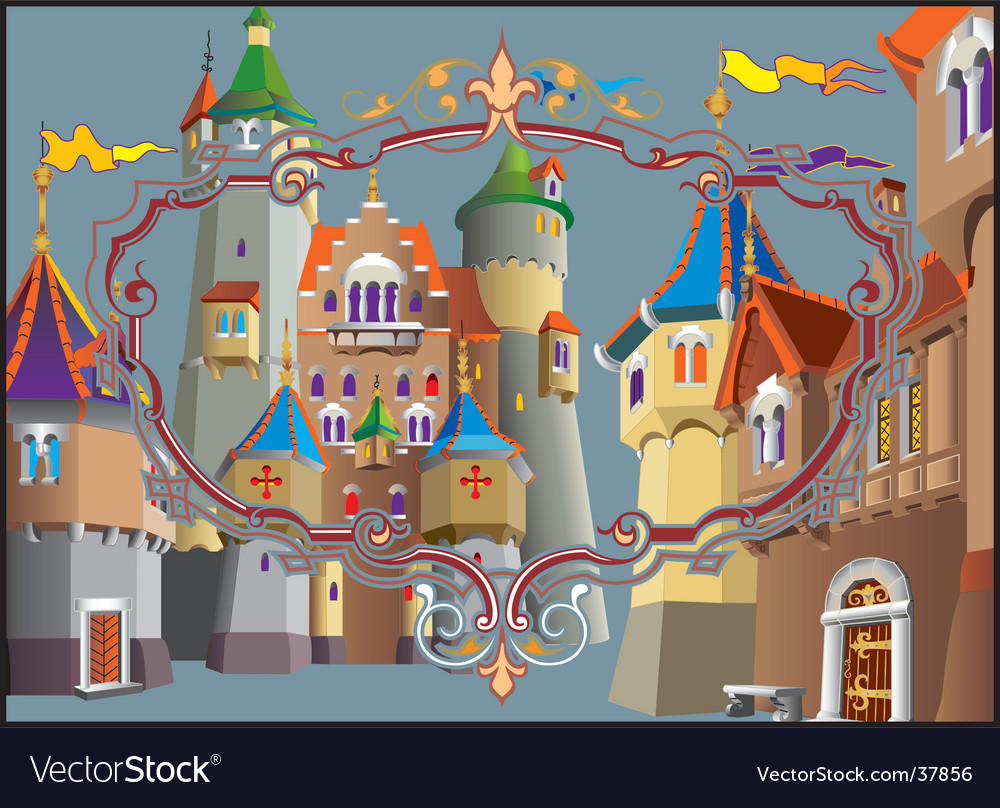 Medieval castle vector | Price: 3 Credit (USD $3)