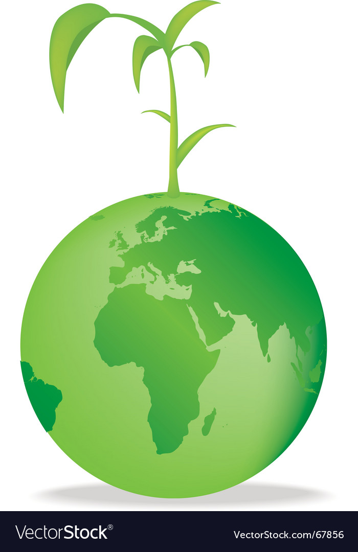 Seedling globe vector | Price: 1 Credit (USD $1)