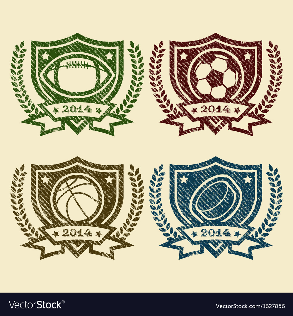 Sport logo emblem rubber stamps vector | Price: 1 Credit (USD $1)