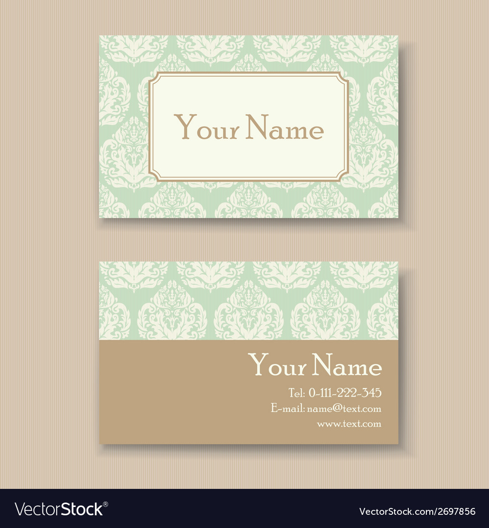 Vintage business card vector | Price: 1 Credit (USD $1)
