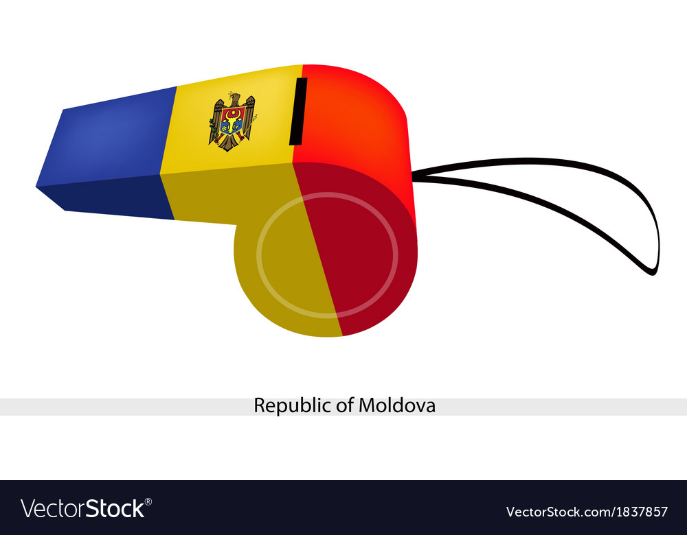 A whistle of the republic of moldova vector | Price: 1 Credit (USD $1)