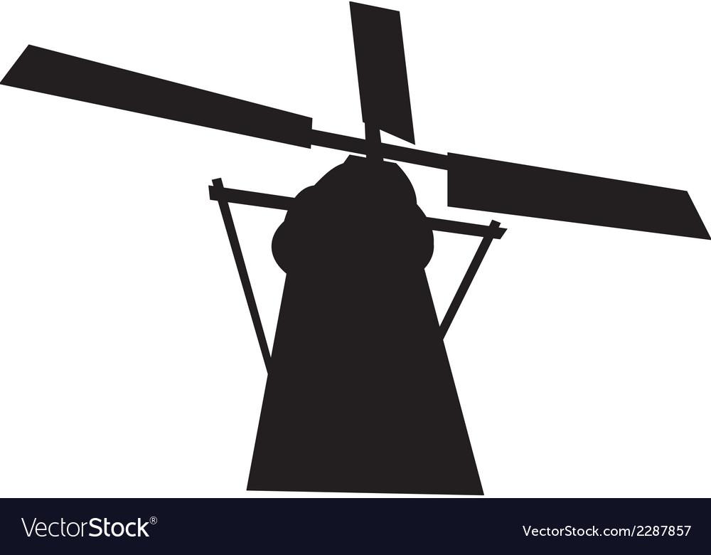 Black mill silhouette vector   Price: 1 Credit (USD $1)