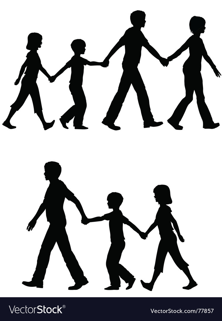Casual family vector | Price: 1 Credit (USD $1)