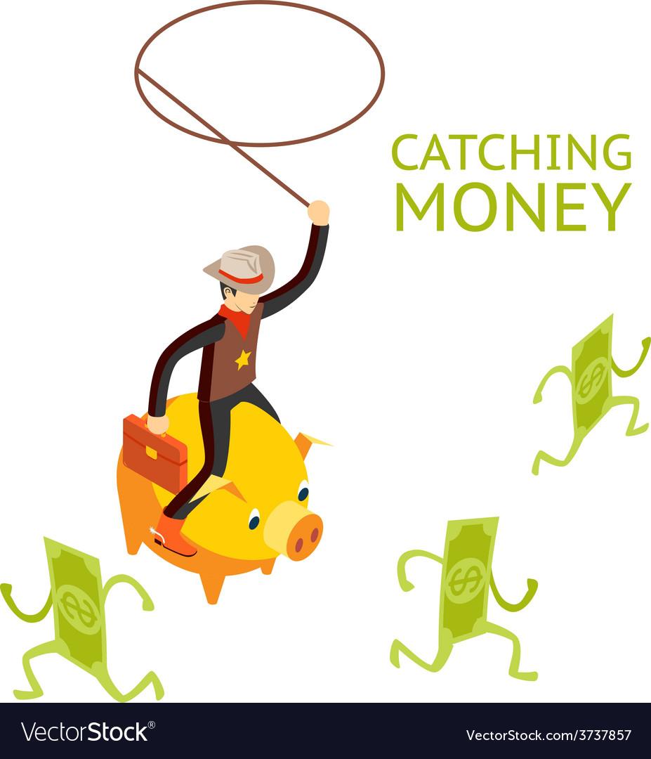 Catching money concept vector | Price: 1 Credit (USD $1)