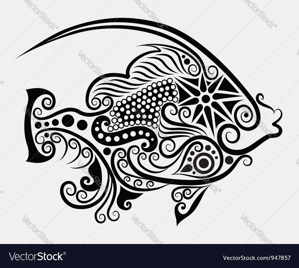 Decorative fish 2 vector | Price: 1 Credit (USD $1)