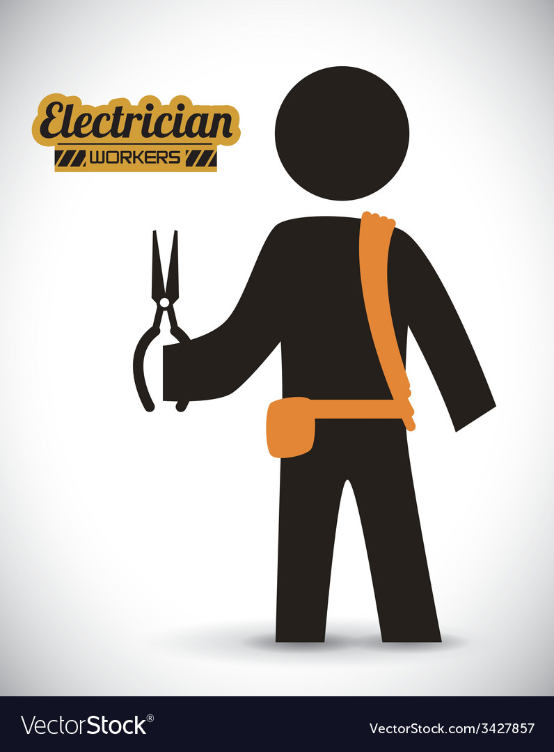 Electrician design vector | Price: 1 Credit (USD $1)