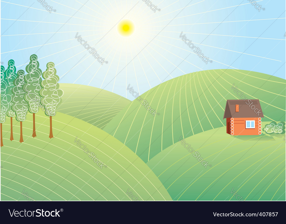 Field nature vector | Price: 1 Credit (USD $1)
