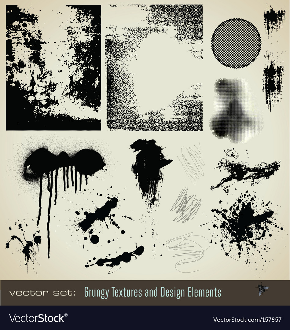 Grungy textures and design element vector | Price: 1 Credit (USD $1)