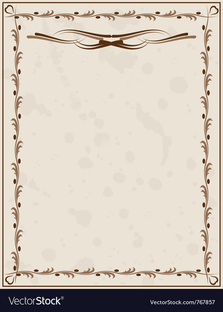 Old paper background with ornament vector | Price: 1 Credit (USD $1)