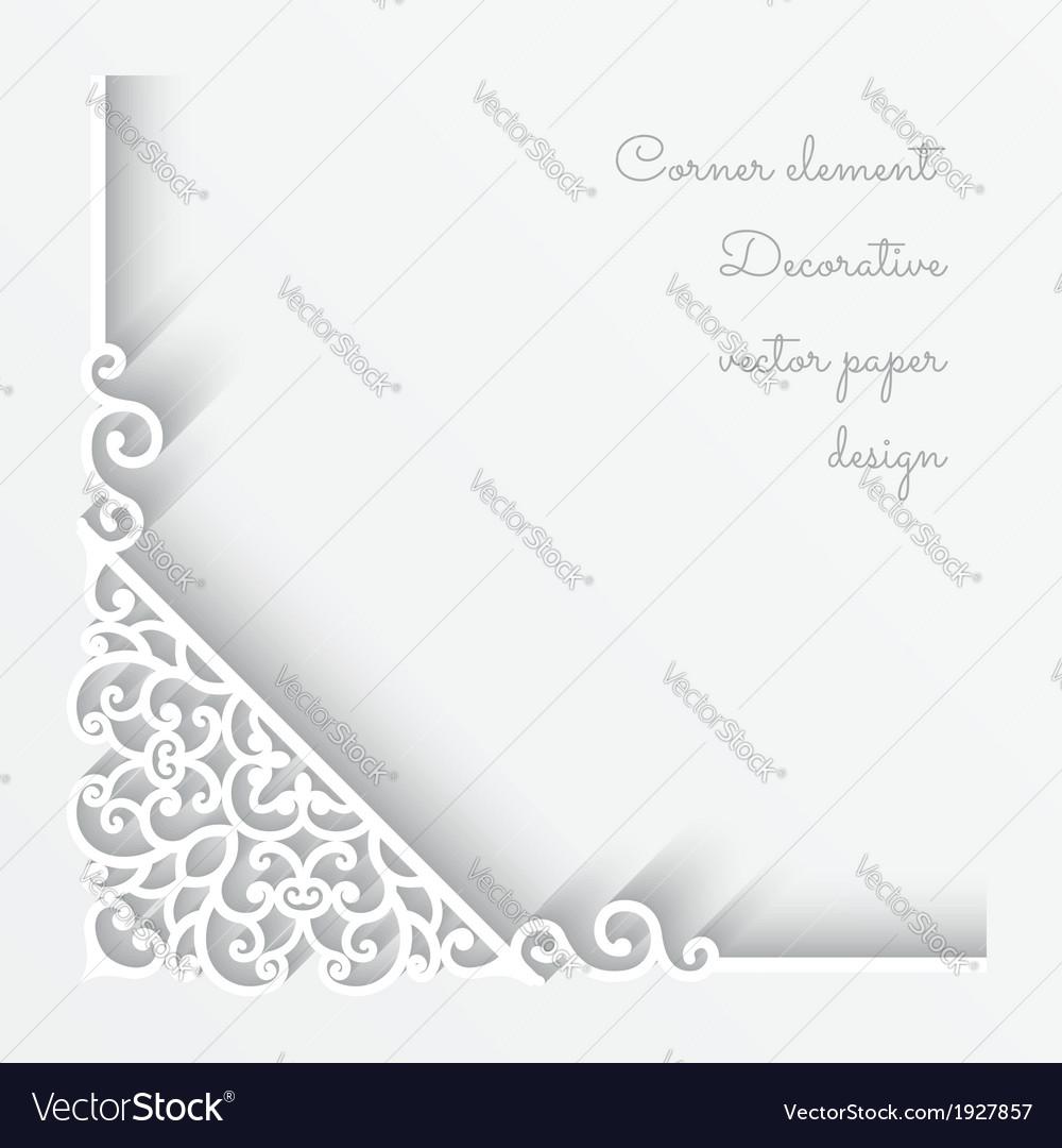 Paper corner background vector | Price: 1 Credit (USD $1)