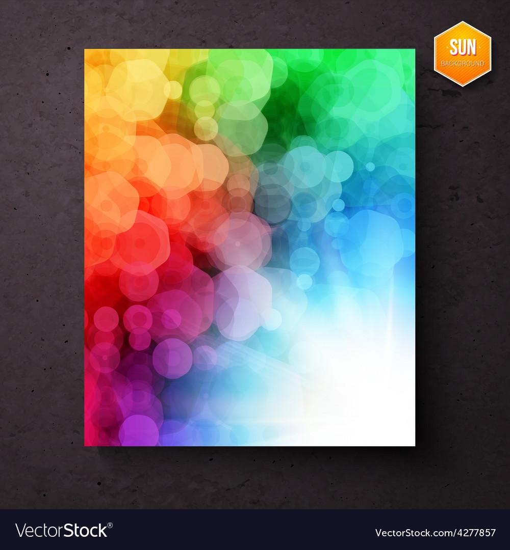 Rainbow abstract pattern above a sunburst vector | Price: 1 Credit (USD $1)