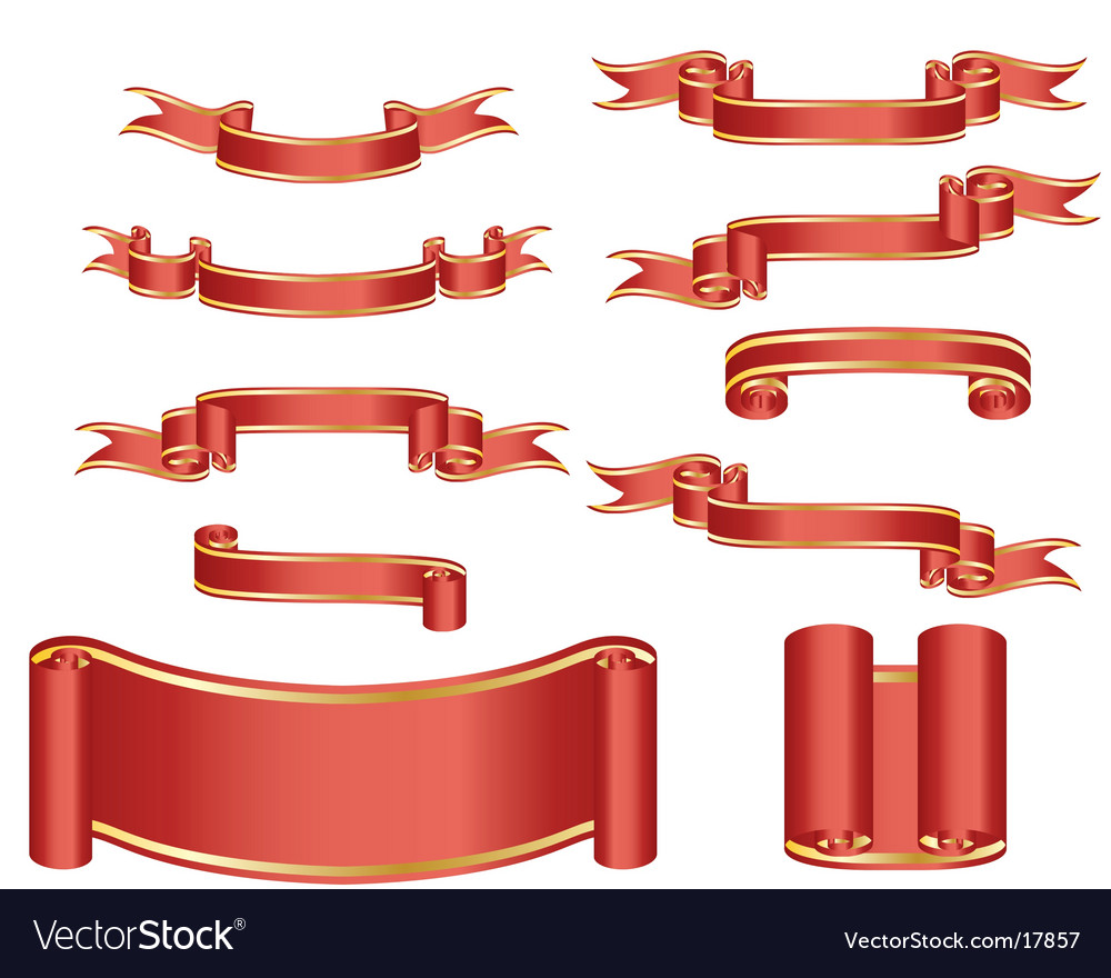 Ribbons vector | Price: 1 Credit (USD $1)