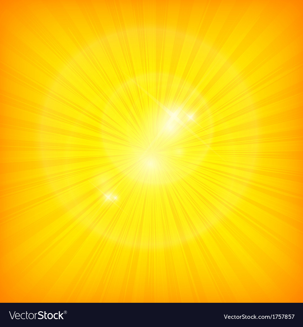 Sunburst background in yellow vector | Price: 1 Credit (USD $1)
