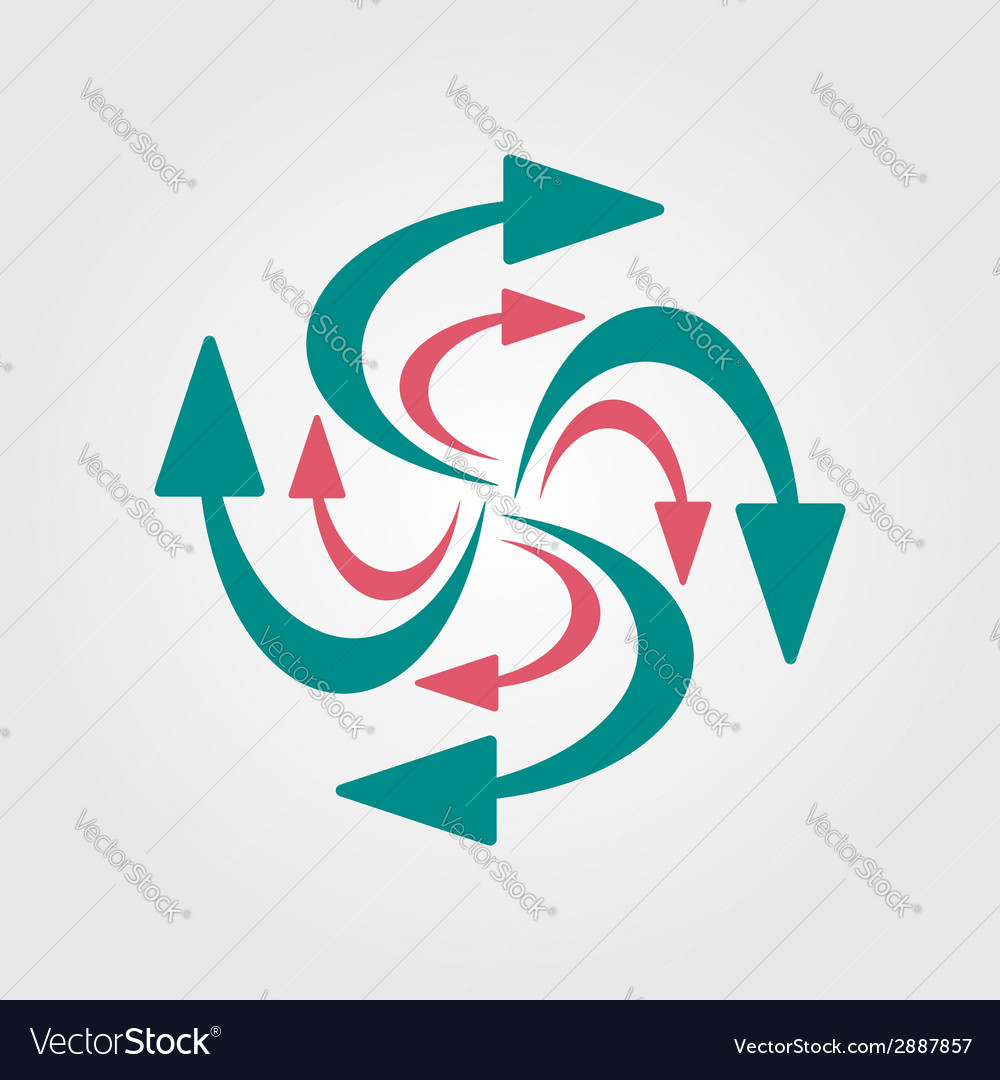 Swirling arrows icon vector | Price: 1 Credit (USD $1)