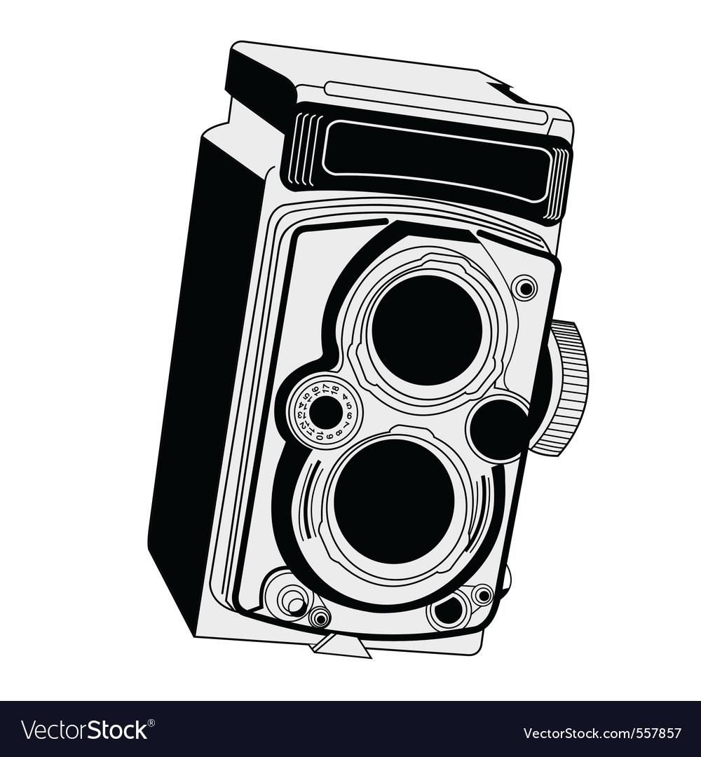 Vintage camera vector | Price: 1 Credit (USD $1)