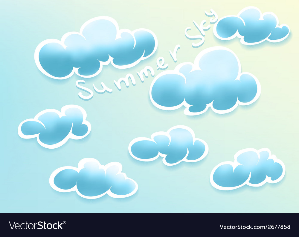 Clouds on summer sky vector | Price: 1 Credit (USD $1)