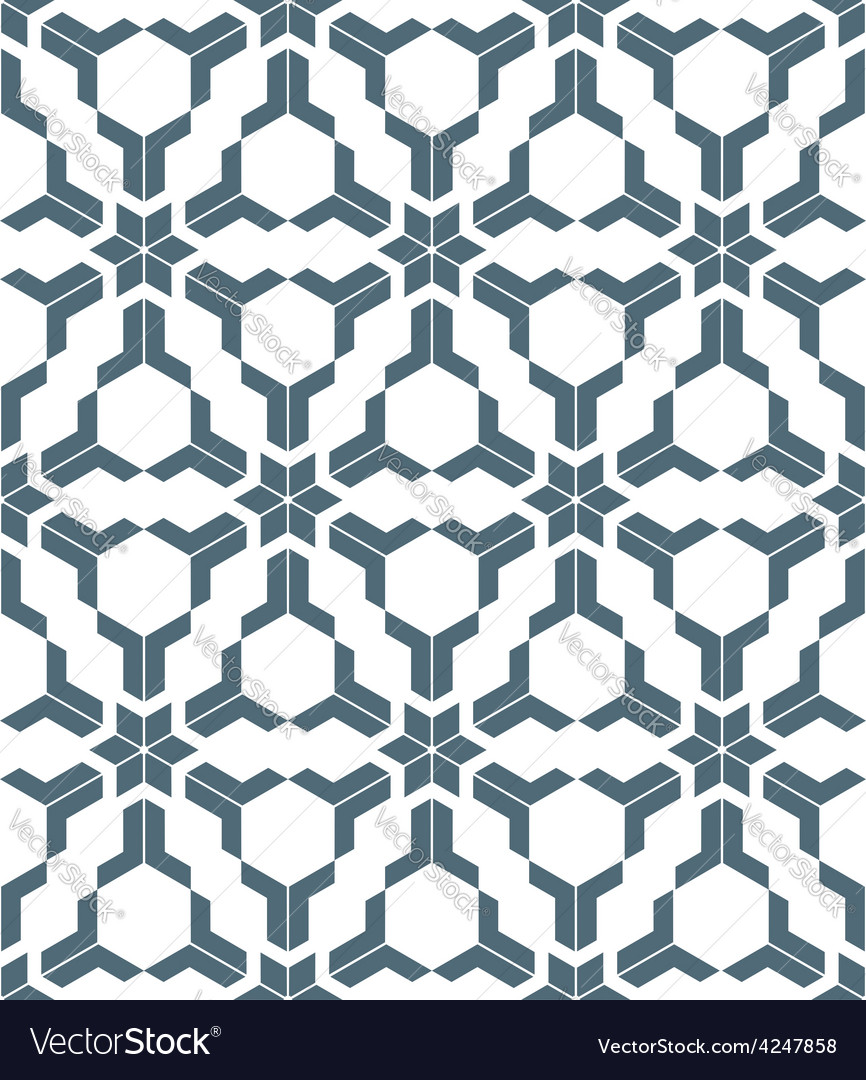 Geometric abstract flowers monochrome seamless vector   Price: 1 Credit (USD $1)