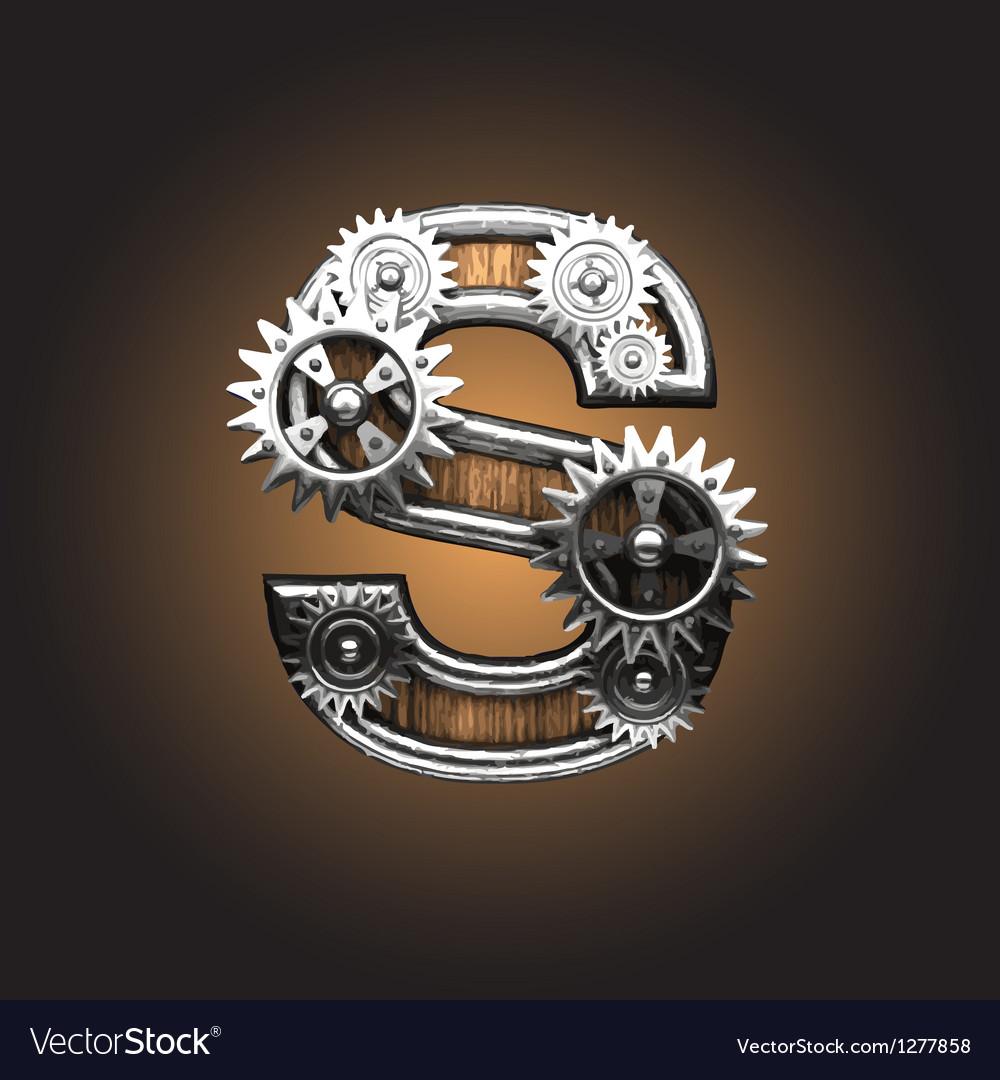 Metal figure with gearwheels vector   Price: 1 Credit (USD $1)