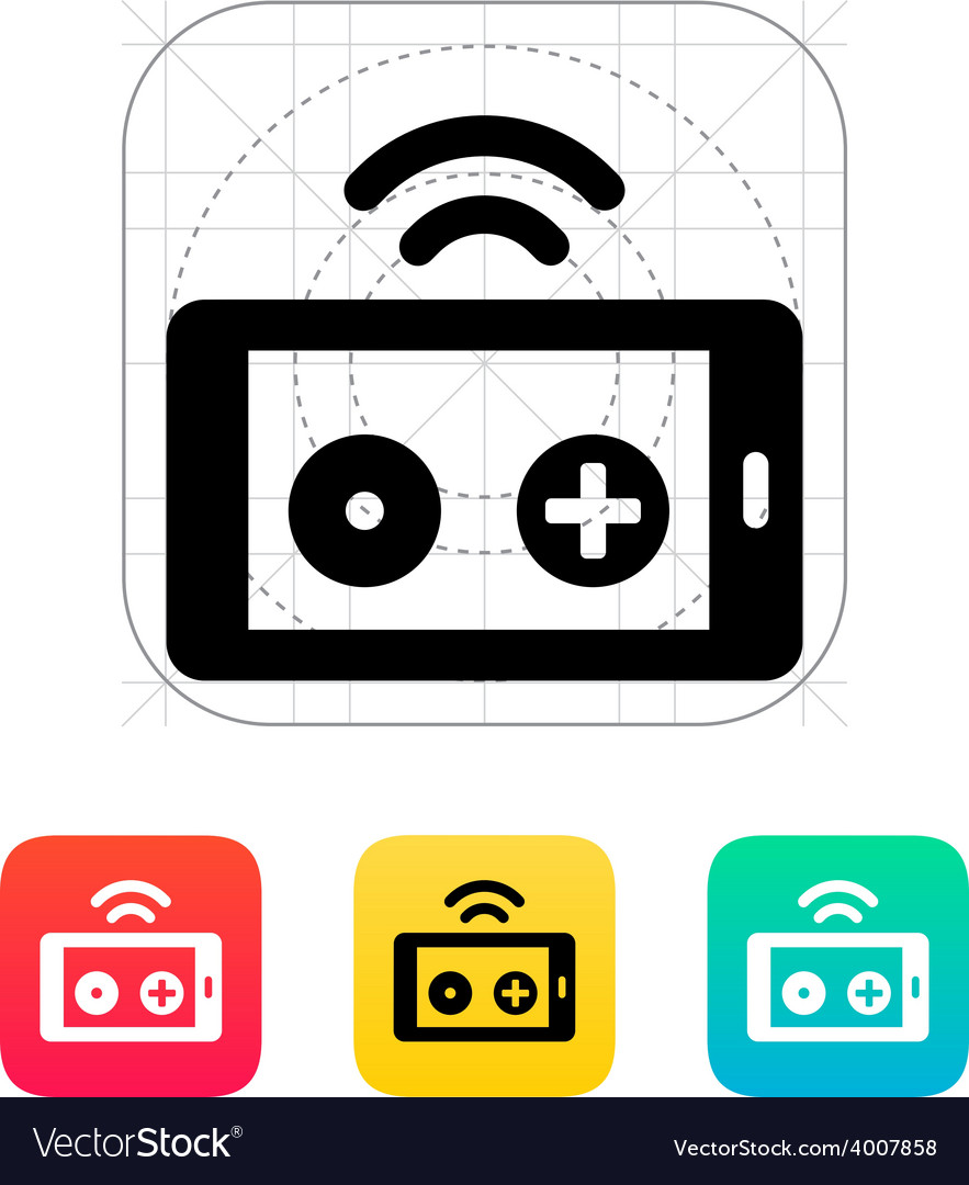 Phone remote controller icon vector | Price: 1 Credit (USD $1)