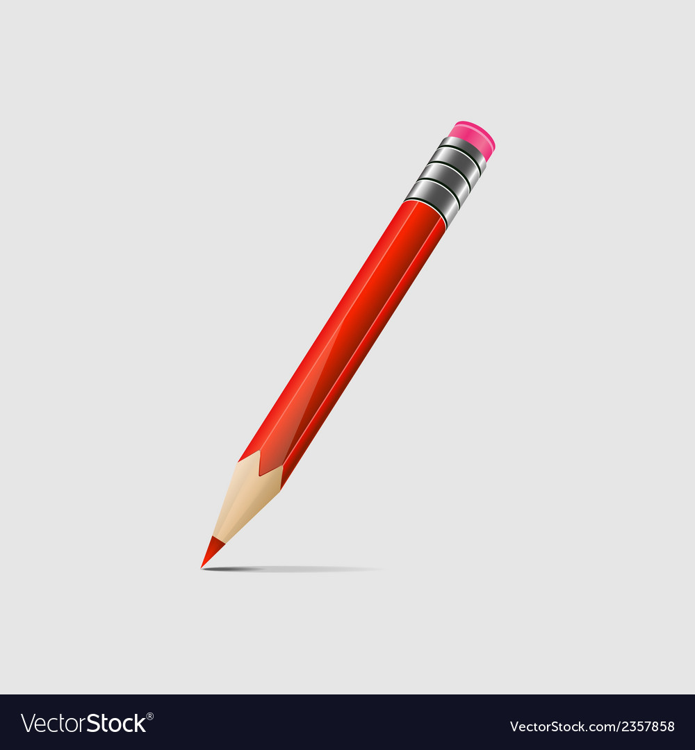 Red pencil vector   Price: 1 Credit (USD $1)