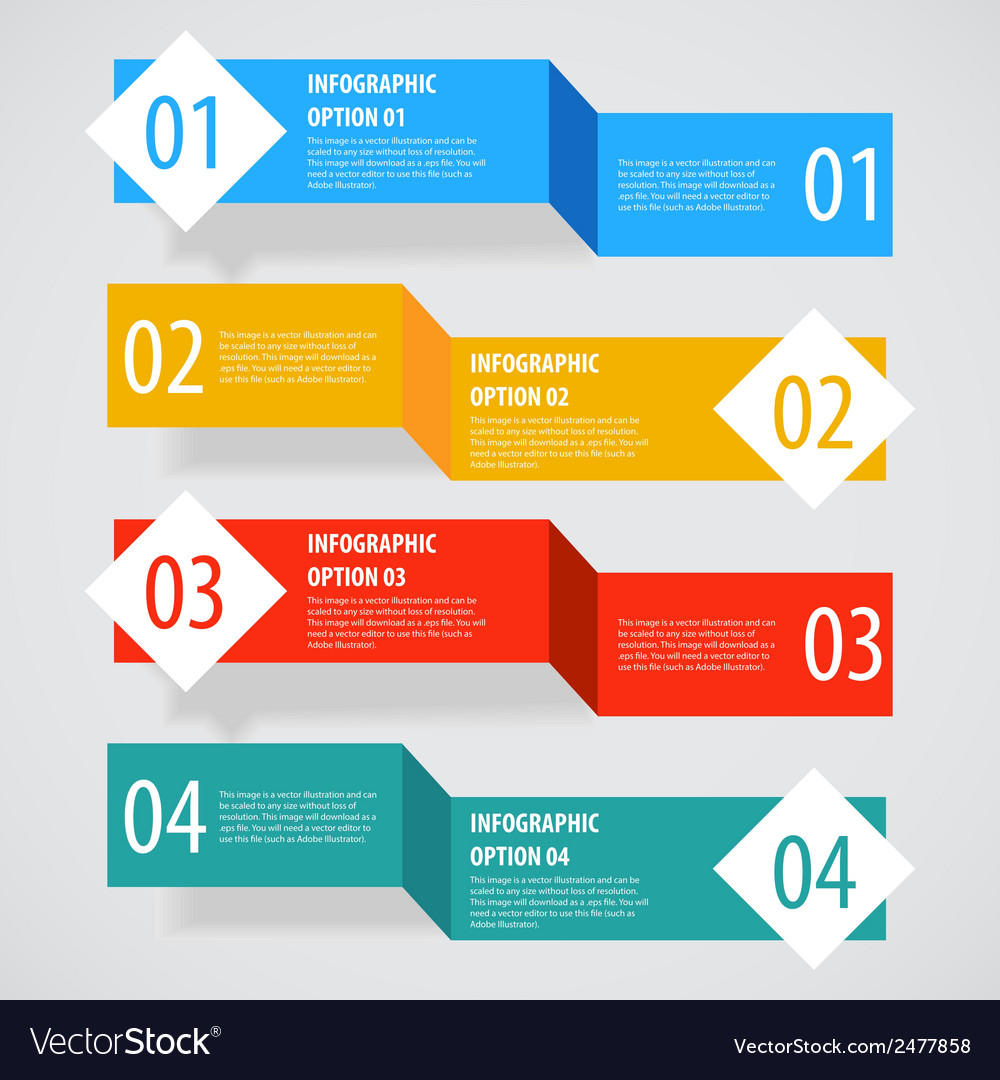 Simple abstract infographics options banner vector | Price: 1 Credit (USD $1)