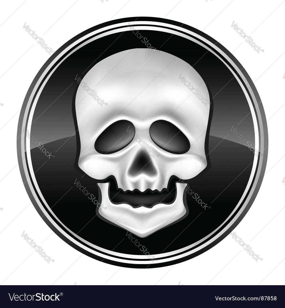 Skull icon vector | Price: 1 Credit (USD $1)