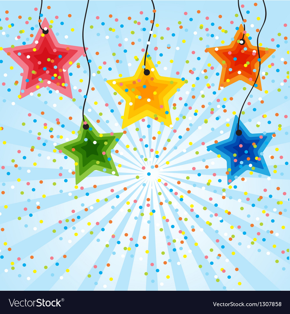 Star holiday background vector | Price: 1 Credit (USD $1)