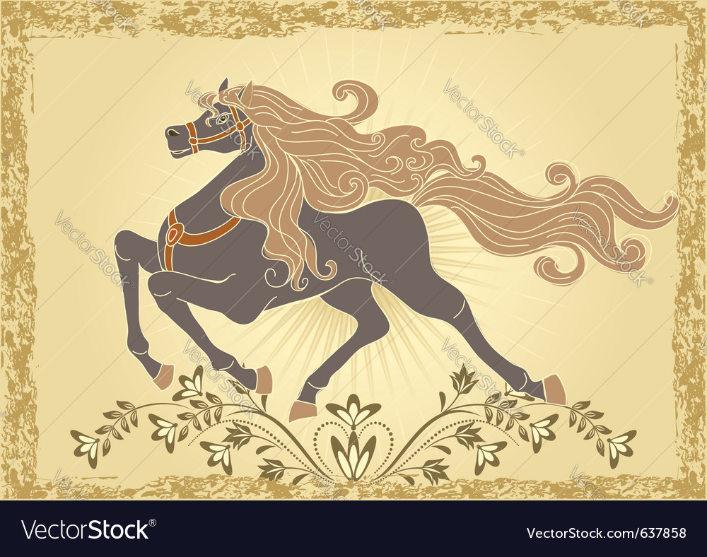 Traditional horse vector | Price: 1 Credit (USD $1)